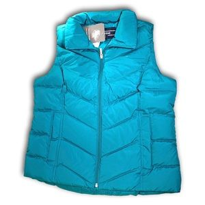 Land's End Teal Down Vest, NWT